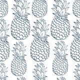Exotic seamless pattern with silhouettes tropical Royalty Free Stock Photography