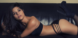 Exotic sexy woman wearing lingerie Stock Image