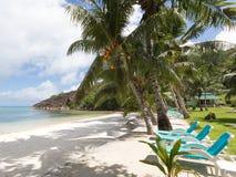Exotic Seychelles beach Royalty Free Stock Photo
