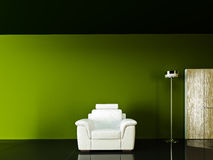 Exotic Shades- White Couch Royalty Free Stock Photos