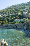 Exotic shore. Town near the shore in Turkey Stock Images