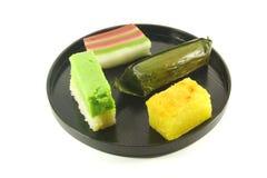 Exotic Small Cakes. Known as Nyonya Kueh Stock Photos