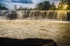 Exotic small waterfall for swimming named Tadton Waterfall in Stock Photos