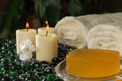 Exotic spa setting Royalty Free Stock Photography
