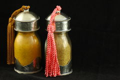 Exotic Spice Jars Royalty Free Stock Photos