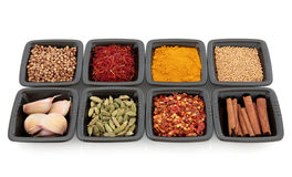 Exotic Spices and Herbs Royalty Free Stock Photo