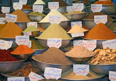 Exotic spices on traditional Bazaar Royalty Free Stock Image