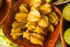 Exotic star fruit Carambola Royalty Free Stock Photo