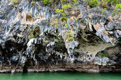 Exotic stone caves of the island Royalty Free Stock Image