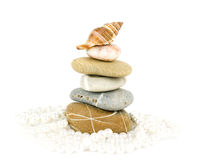 Exotic stones and shell Stock Photo
