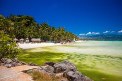 Exotic stunning sea views on the island of Boracay Stock Photography