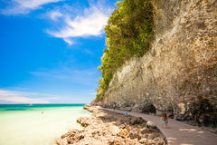 Exotic stunning sea views on the island of Boracay Stock Images