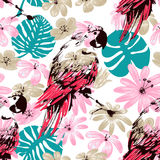 Exotic summer seamless pattern Royalty Free Stock Photos