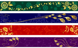 Exotic summertime banners Royalty Free Stock Photos