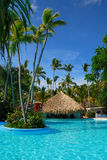 Exotic swimming pool in Dominican Republic, Stock Photos