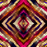 Exotic symmetric pattern with grunge triangles Royalty Free Stock Image
