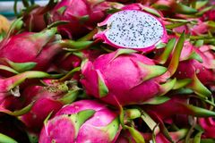 Exotic Thai Fruit. Dragon fruit Stock Photos