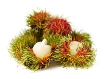 Exotic Thai fruit Rambutan or Ngo Royalty Free Stock Photo