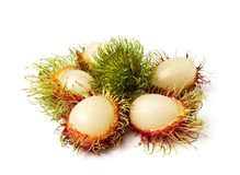 Exotic Thai fruit Rambutan or Ngo Stock Photo