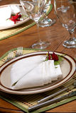 Exotic theme table setting Stock Image