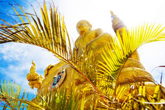Exotic travels and adventures .Thailand trip.Buddha and landmarks Royalty Free Stock Photos
