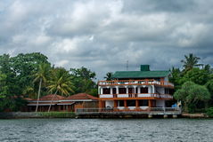 Exotic tropic sea house in Sri Lanka Royalty Free Stock Image