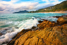 Exotic tropical beach Stock Photography