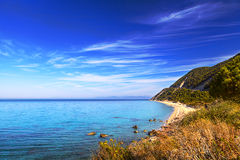 Exotic tropical beach Agios Nikitasi Royalty Free Stock Photo
