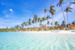 Exotic tropical beach. Royalty Free Stock Images