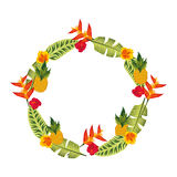 Exotic and tropical flower icon Royalty Free Stock Image