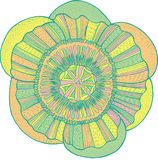 Exotic tropical flower mandala - isolated element. Vector graphi. C pastel colored art for design, print, pattern Stock Photography