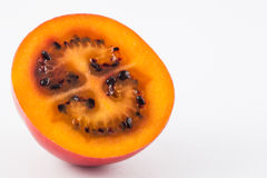 Exotic tropical fruit called tree tomato Solanum Betaceum. On white background Royalty Free Stock Photography