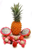Exotic tropical fruits Stock Photos