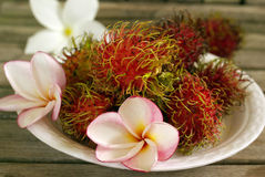 Exotic tropical fruits Rambutan Stock Photography