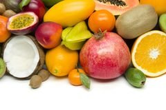 Exotic tropical fruits royalty free stock image