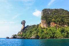 Exotic Tropical island in Krabi Royalty Free Stock Images