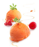 Exotic tropical mango icecream stock photography