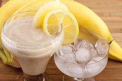 Exotic tropical smoothie of banana Stock Photos