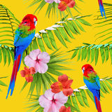 Exotic tropical summer decoration seamless pattern Stock Photo