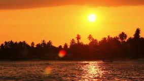 Exotic unawatuna beach, sri lanka stock footage