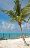 Exotic vacation getaway. Tropical scenery at remote and isolated caribbean island resort Royalty Free Stock Photo