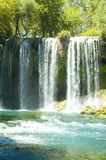 Exotic waterfall. And river in Turkey Stock Photos