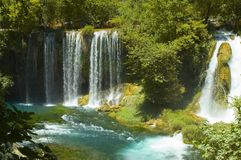 Exotic waterfall. And river in Turkey Stock Photo