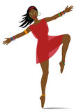 Exotic woman dancing Stock Photography