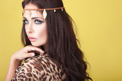 Exotic woman wearing a headband Stock Photography