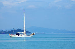Exotic yacht ride at Malaysia Royalty Free Stock Image