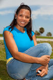 Exotic young hispanic woman stock images
