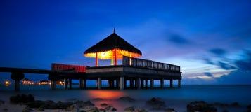 Exotica del taj delle Maldive del padiglione di nozze Fotografie Stock Libere da Diritti