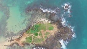 Exotisch Eiland in de Indische Oceaan van dron stock footage