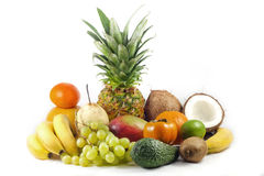 Exotisch en tropische vruchten Royalty-vrije Stock Afbeeldingen